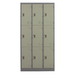 METALPRO MET-6109N STEEL LOCKER 9 DOORS GREY