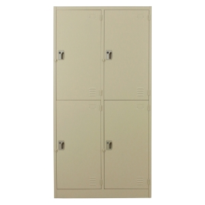 METALPRO MET-6104N STEEL LOCKER 4 DOORS CREAM