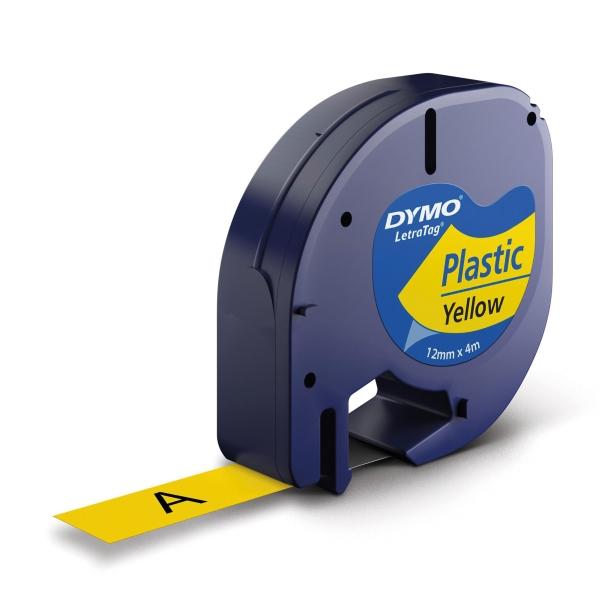 DYMO เทปพิมพ์อักษร 91202 12มม. x 4ม.เหลือง