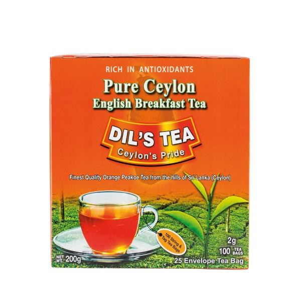DIL'S TEA ชาชนิดซอง ซีลอน 100 ซอง