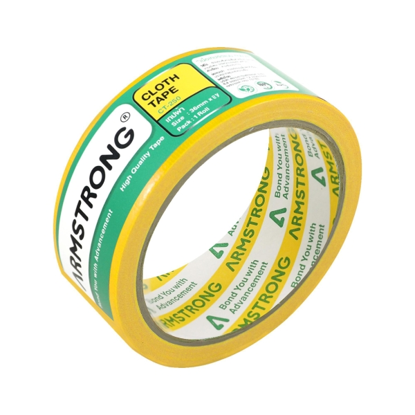 ARMSTRONG CLOTH TAPE 1.5'' X 8 YARDS 3'' CORE YELLOW