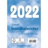 KALENDERE 7.SANS BORDKALENDER BOKMÅL BORDALMANAKK 83X119 MM BLÅ