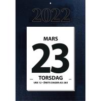 KALENDERE 7.SANS KJEMPEKALENDER KONTORALMANAKK  28X39,5CM MØRK BLÅ