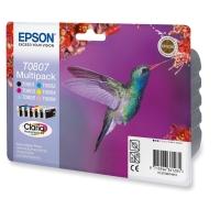 BLEKKPATRON EPSON T080 R265 MULTIPAK 6 FARGER