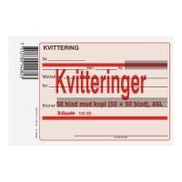 KVITTERINGSBLANKETTER A6L M/KOPI