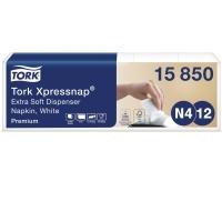 SERVIETTER N4 TORK 15850 PREMIUM 2-LAGS 10,8 x 16,5 CM - 5 PAKKER á 200 STK