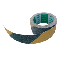 SKLISIKKER TAPE VISO 5M X 50MM SORT/GUL
