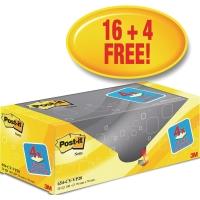Post-it® Super Sticky Notes Value Pack 654CY-VP20 76x76mm gul pakke a 20 blokker