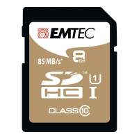 MINNEKORT EMTEC SDHC GOLD 8GB