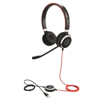HEADSET JABRA EVOLVE 40 UC DUO USB MS