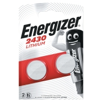 BATTERI ENERGIZER CR2430 KNAPPCELLE LITHIUM PAKKE Á 2 STK