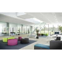 RECEPTION CALL LOUNGE PUFF 45 CM HAVANNA SORT
