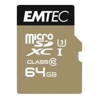 MINNEKORT EMTEC SPEEDIN MICROSDXC M/LESER 640X 64 GB
