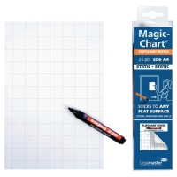 FLIPPOVERBLOKK LEGAMASTER MAGIC CHART NOTE RUTER A4
