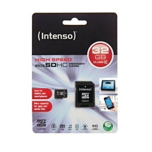 Micro SDHC-minnekort Intenso 32GB