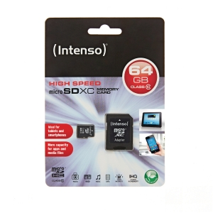 Micro SDXC-minnekort Intenso 64GB