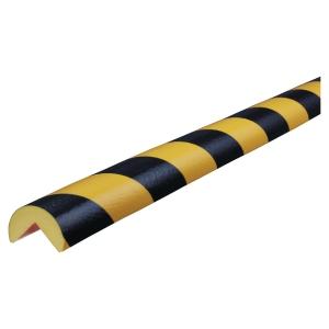Hjørnebeskyttelse Knuffi type A PU 5m sort/gul