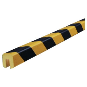 Hjørnebeskyttelse Knuffi type g PU 1m sort/gul