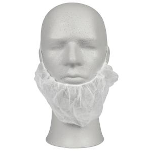 Skjeggbind Abena onesize hvit, pakke à 100 stk