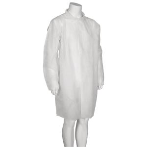 Besøksjakke Abena str. l/xl hvit, pakke à 50 stk