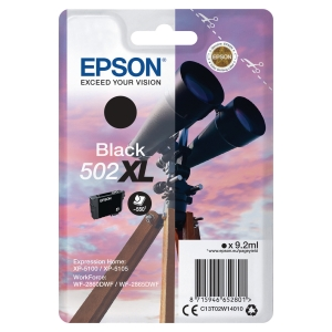 Blekkpatron Epson enkeltpakket 502Xl sort