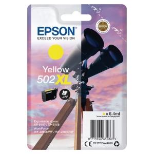 Blekkpatron Epson enkeltpakket 502Xl gul