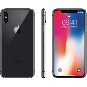 smarttelefon APPLE iPhone X 256 GB stellagrå