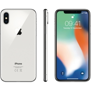 smarttelefon APPLE iPhone X 256 GB sølv