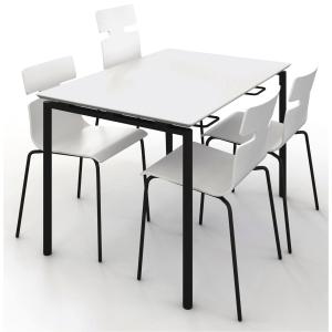Kantinebord Zignal 120 x 80 cm hvit