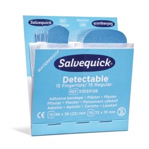 Plaster Salvequick Blue Detectable, eske à 6 sett