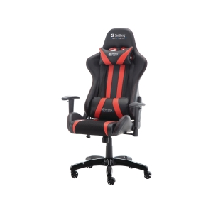 Gamingstol Sandberg Commander, sort og rød