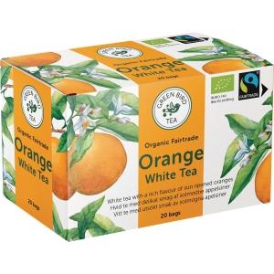 Te Green Bird Tea hvit te med appelsin, pakke à 20 poser