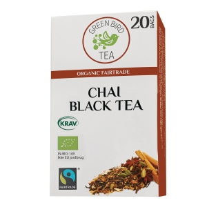 Te Green Bird Tea Chai, pakke à 20 poser