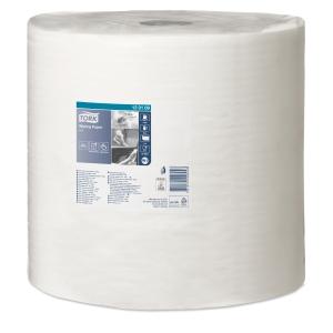 Industritørkerull W1/W2 standard 1-lag hvit Tork 130109