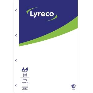 BLOKK LYRECO A4 LINJERT 4 HULL TOPPLIMT