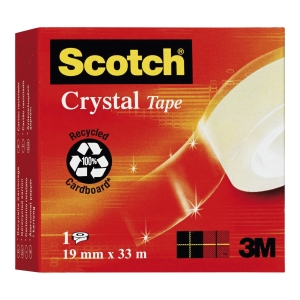 Scotch® 600 tape, 19 mm X 33, transparent