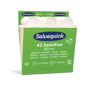 Plaster Cederroth Salvequick sensitive 6943 nonwoven, eske á 6 sett