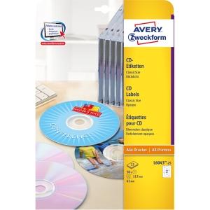 ETIKETT AFTERBURNER L6043-25 STD CD LAB PK50