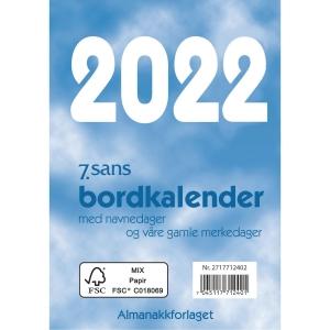 KALENDERE 7.SANS BORDKALENDER BOKMÅL BORDALMANAKK 8,3X11,9 CM