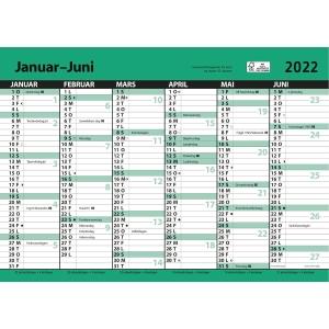 Kalender 7.Sans Kontorkalender med linjer A4