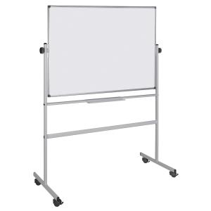 Whiteboardtavle/svingtavle på hjul Bi-Office, 90 x 120 cm