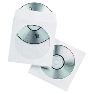 CD/DVD-PAPIRKONVOLUTT PAKKE À 50 STK.