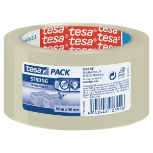 EMBALLASJETAPE TESA PP 57167   50 MM X 66 M TRANSPARENT