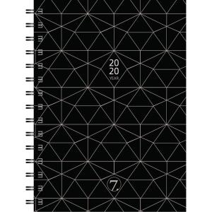 KALENDERE 7.SANS YEAR CLASSIC A5 AVTALEBOK ALMANAKK SPIRALISERT PLAST SORT