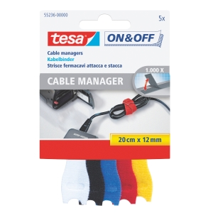 Borrelås cable manager Tesa pk5 farger