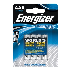 BATTERI ENERGIZER ULTIMATE LITHIUM AAA/LR03 1,5V PK4