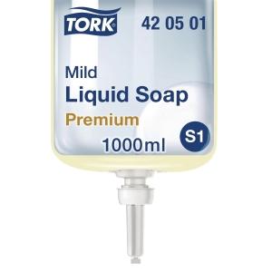 Såpe Tork S1 Premium, mild, 1 liter, kartong à 6 stk.