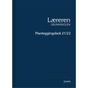 Planleggingsbok 7.Sans Lærere Grundskolen innbunndet A4 blå