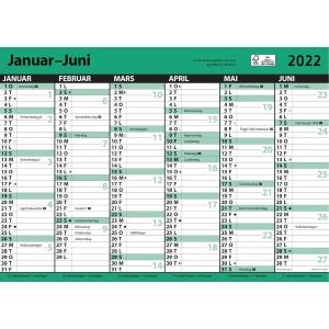 Kalender 7. sans Kontorkalender med linjer A3