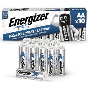 BATTERI ENERGIZER ULTIMATE LITHIUM AA/LR6 PAKKE Á 10 STK.